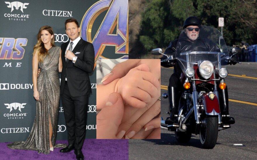 Katherine Schwarzenegger, Chrissas Prattas ir Arnoldas Schwarzeneggeris/ Vida Press ir Instagram