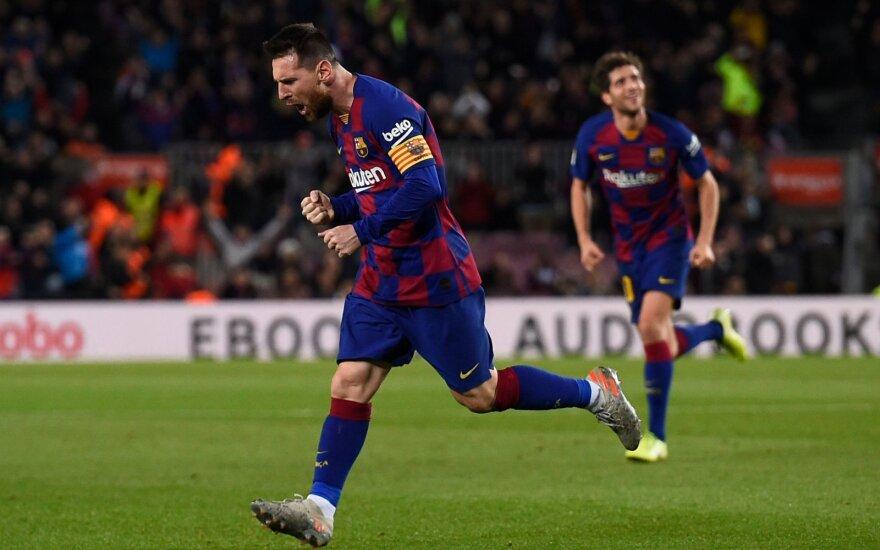 Messi šou Barselonoje: trys įvarčiai per 25 min. ir pasiektas Ronaldo rekordas