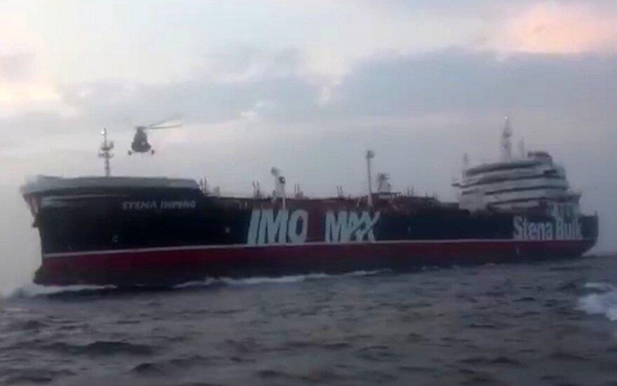 """Iranas pasisakė apie su JK vėliava plaukiojančio laivo sulaikymą: laiko tai """"teisėta priemone"""""""