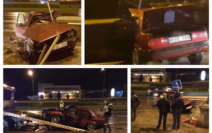 Klaipėdiečiai nufilmavo kraują stingdančią avariją: sunku patikėti, kad vairuotojas liko gyvas