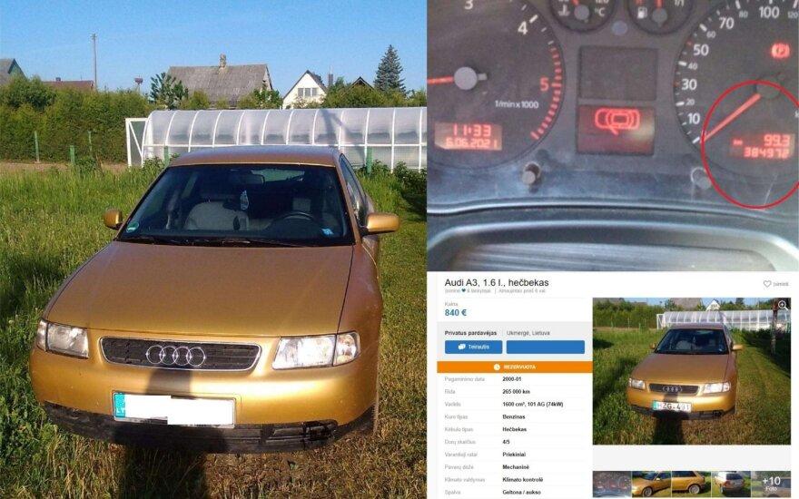 """Įamžino sukčių su visais įrodymais: už 800 eurų parduodamai """"Audi"""" atsuko ridą ir pats pamiršo"""