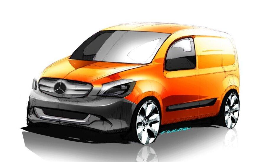 Mercedes-Benz Citan eskizas