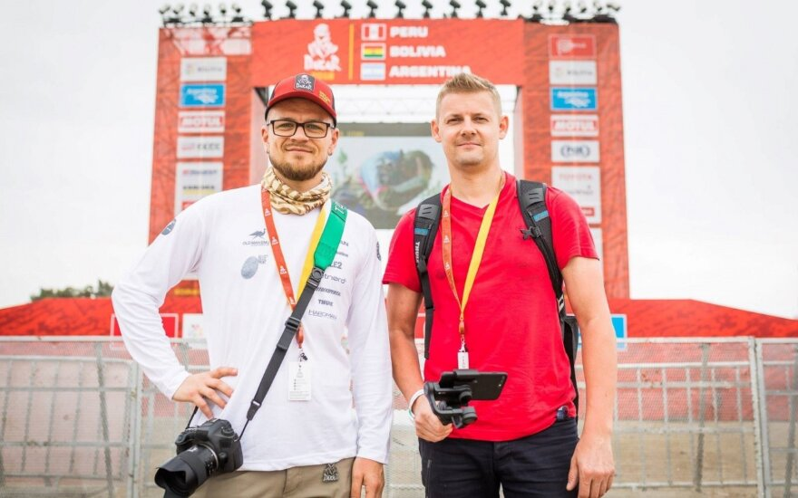 #iGo2Dakar projekto dalyviai Andrius Laucius ir Mindaugas Plukys tyrinėja Peru ir Dakaro ralio prieigas