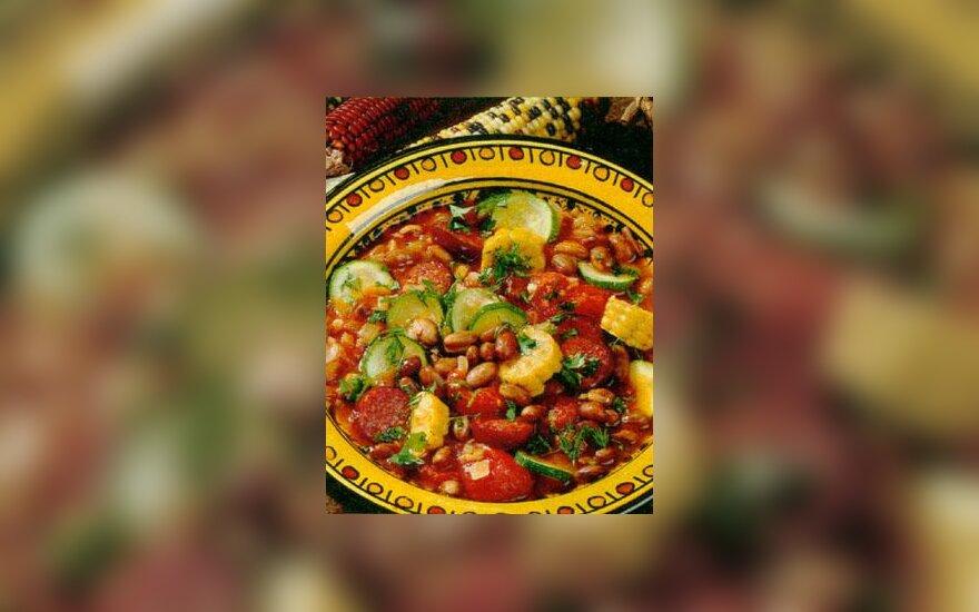 Meksikietiška daržovių sriuba