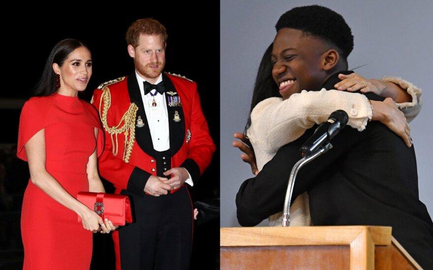 Meghan Markle, princas Harry ir moksleivis