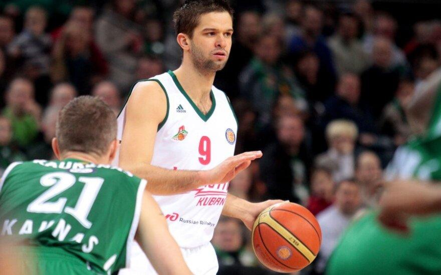 """""""Žalgiris"""" VTB lygoje įveikė Krasnodaro ekipą su M.Kalniečiu ir S.Jasaičiu"""
