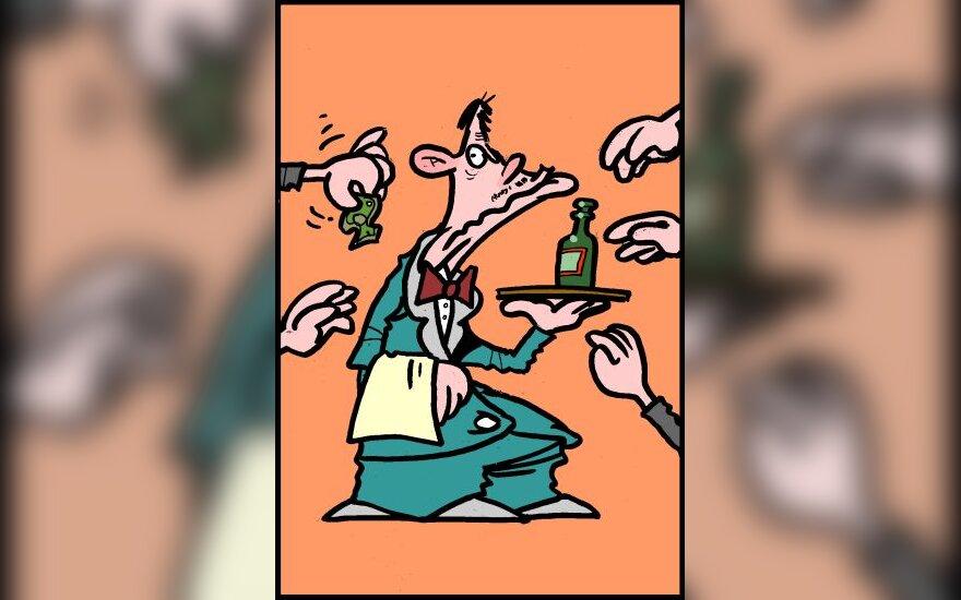 """Konkurencija dėl """"Stumbro"""" - karikatūra"""