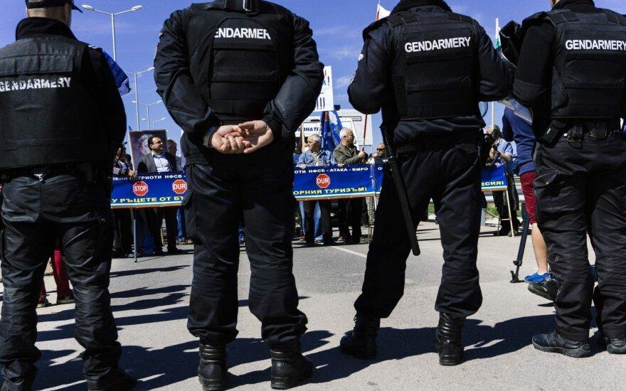 Bulgarijos futbolo stadione driokstelėjęs sprogimas sunkiai sužeidė 2 policininkus