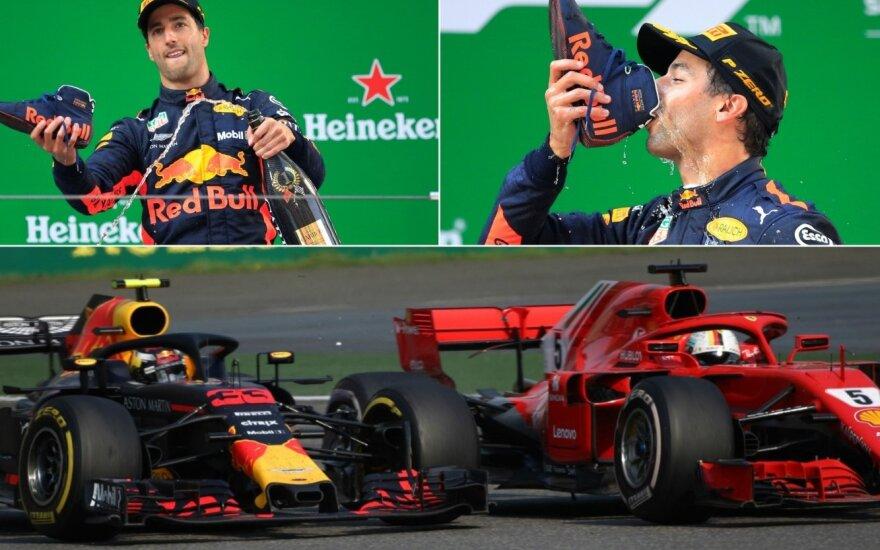 Danielis Ricciardo, Maxas Verstappenas ir Sebastianas Vettelis