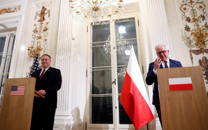 Varšuvoje prasideda JAV ir Lenkijos organizuojama Artimųjų Rytų konferencija
