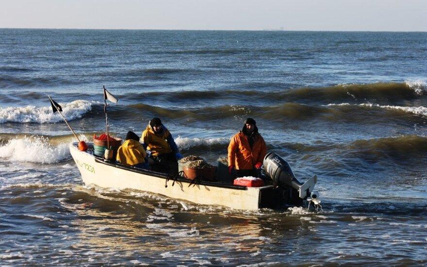 Stintų žvejyba jūroje