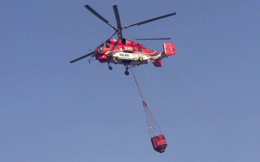 Ugniagesių sraigtasparnis Kinijoje