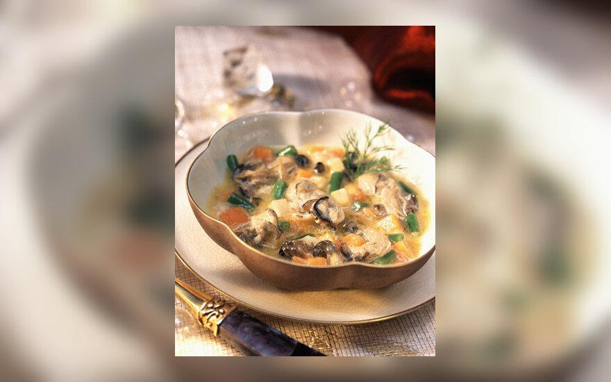 Grybų ir pupų sriuba