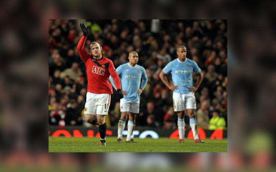 "Wayne'as Rooney eliminavo ""Man City"" futbolininkus"