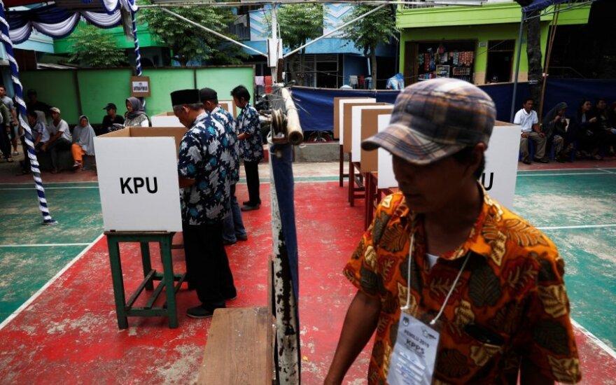Indonezijoje vyksta prezidento ir parlamento rinkimai