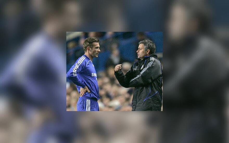 "Andrejus Ševčenko ir Jose Mourinho (""Chelsea"")"