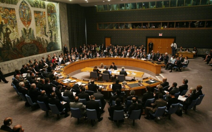 Lithuanian foreign minister speaks for waving veto right at UN Security Council on grave crimes