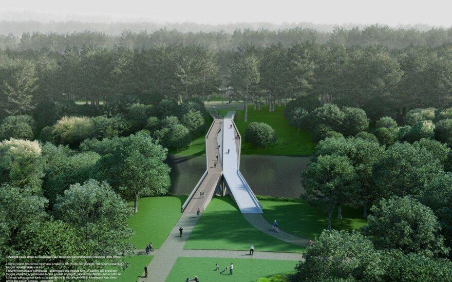 Naujo tilto per Nerį vizualizacija