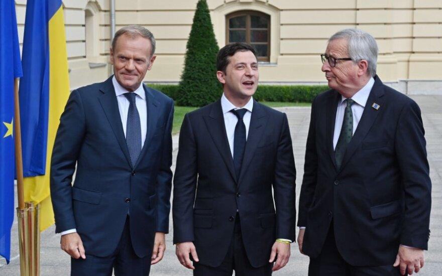 Zelenskis Kijeve susitinka su ES vadovais