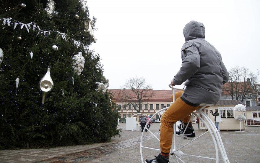 Parodė, kaip valdyti išmaniąją Kauno Kalėdų eglutę