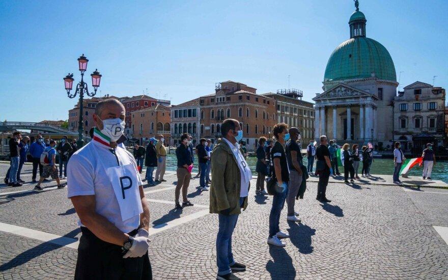 Italijoje per parą užfiksuoti 1075 užsikrėtimo koronavirusu atvejai