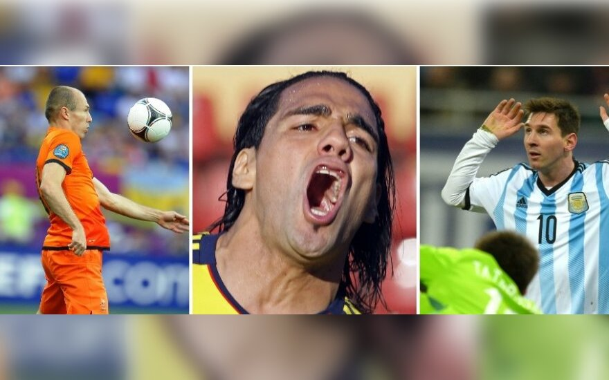 Arjenas Robbenas, Radamelis Falcao ir Lionelis Messi (Reuters/Scanpix nuotr.)