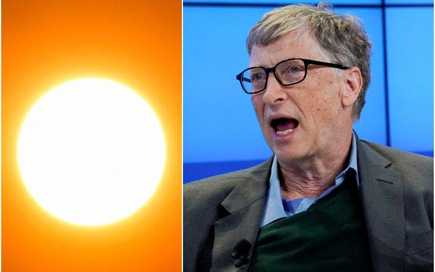 Billas Gatesas finansuos mokslininkų norus blokuoti saulę