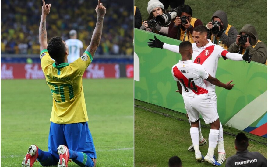 """Copa America"" finale kovos Brazilija ir Peru / Foto: AP-Scanpix"