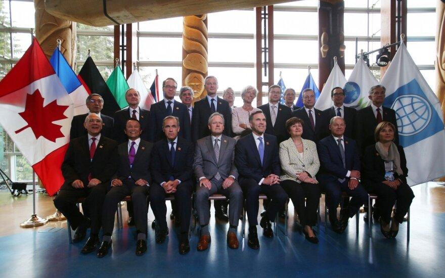 G-7 ministrų susitikime JAV sąjungininkės piktinosi prekybos puolimu
