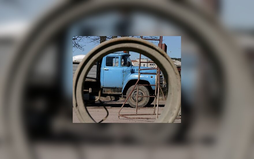 Statybos, sunkvežimis
