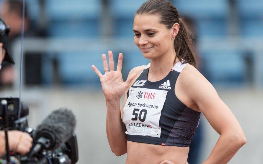 Šerkšnienė pagerino Lietuvos rekordą ir pasiekė aštuntą rezultatą pasaulyje
