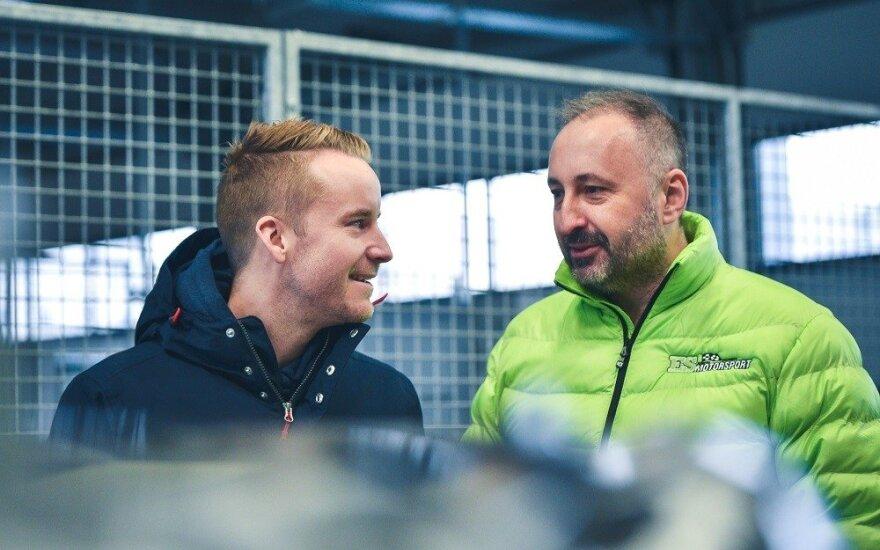 "Madsas Ostbergas aplankė ""ESmotorsport-BRGroup"" komandą"