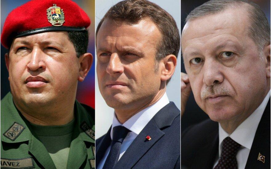 Hugo Chavezas, Emmanuelis Macronas, Recepas Tayyipas Erdoganas