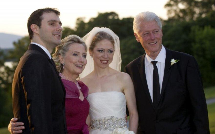 Chelsea Clinton ir Marc Mezvinsky vestuvių akimirkos
