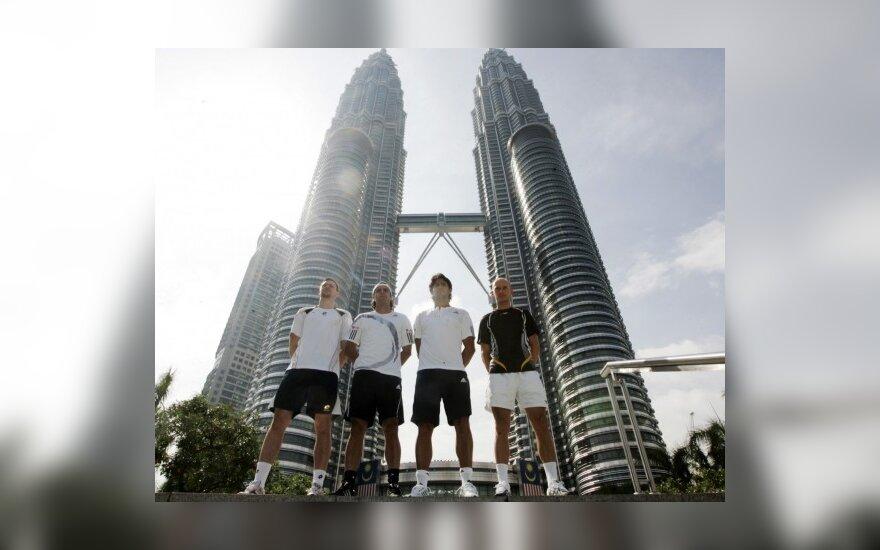 Vyrų teniso turnyrų Malaizijoje ir Tailande pusfinaliuose žais favoritai