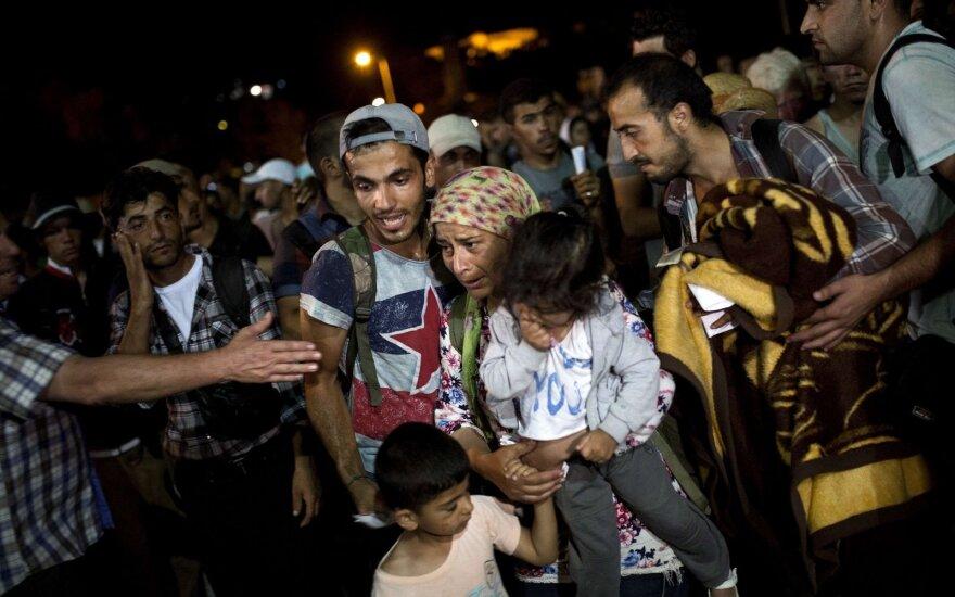 Pažabos pabėgėlius, atsisakančius vykti į Lietuvą