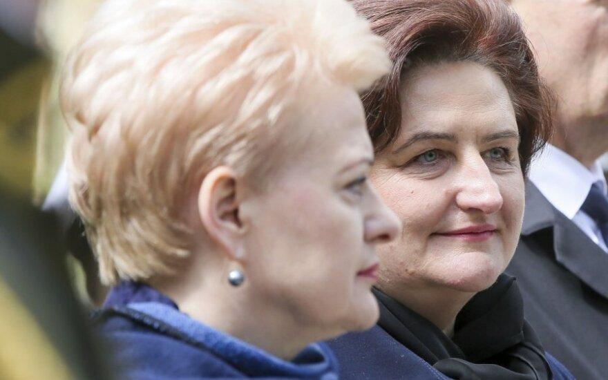 President Dalia Grybauskaitė and Parliament Speaker Loreta Graužinienė