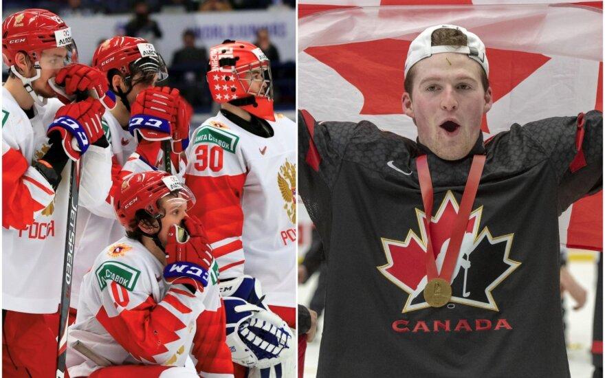 Pasaulio jaunimo ledo ritulio čempionato finalas: Rusija - Kanada