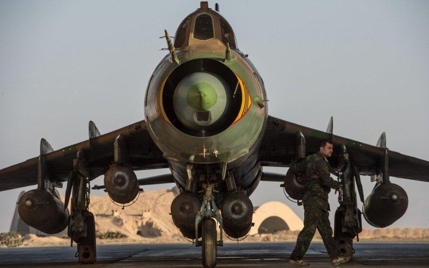 JAV koalicija numušė Sirijos kariuomenės lėktuvą