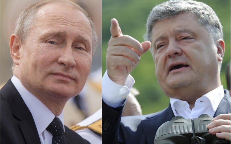 Vladimiras Putinas ir Petro Porošenka