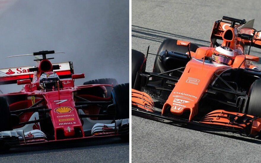 "F-1 ""Ferrari"" ir ""McLaren"" automobiliai"