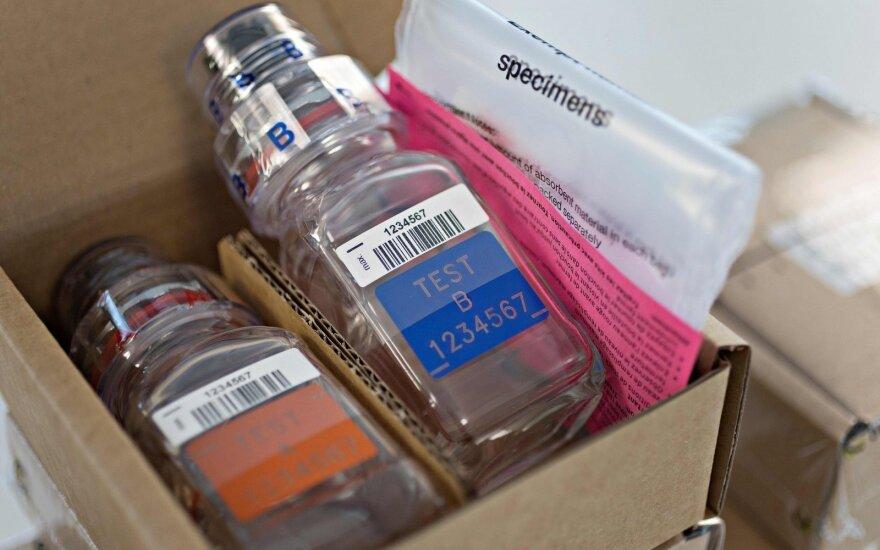 Dopingo mėginių buteliukai