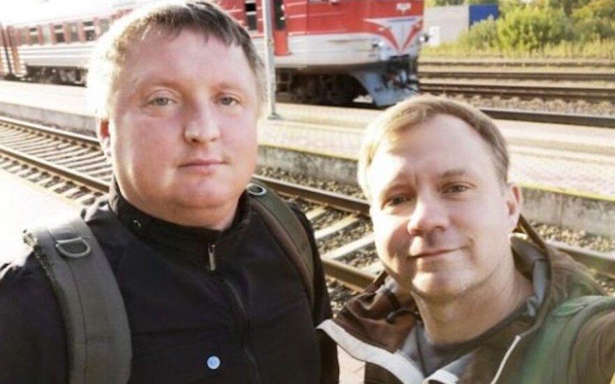 Linas Ulkštinas (dešinėje) su bičiuliu Martynu Miliausku