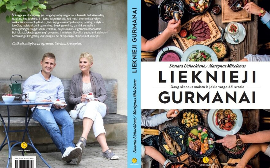 """""""Lieknųjų Gurmanų"""" knyga - pagalba norintiems mesti svorį valgant skaniai"""