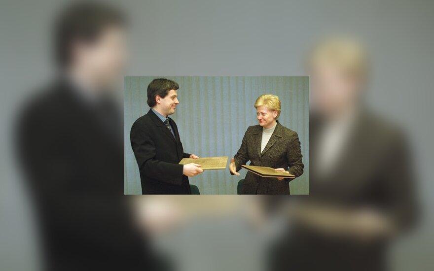 Mantas Nocius ir Dalia Grybauskaitė
