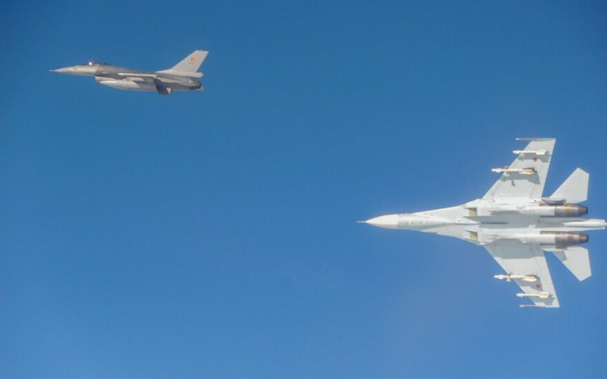 NATO and the Russian fighter-jets in international airspace over the Baltic Sea