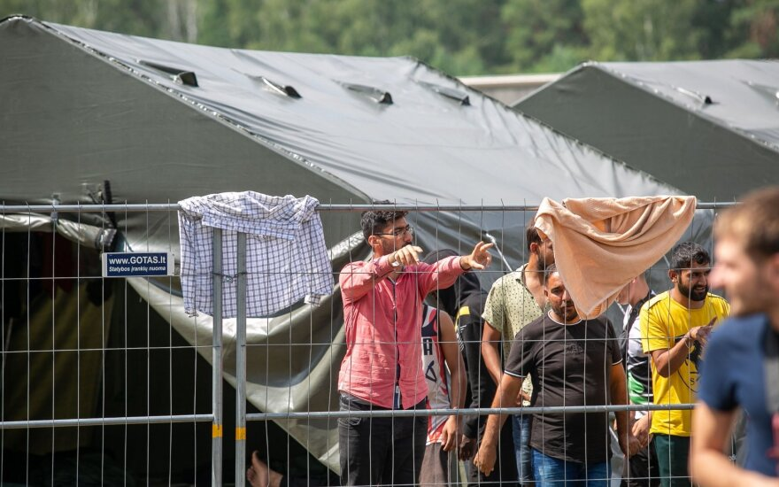 Last migrants moved out of army hangar in Druskininkai