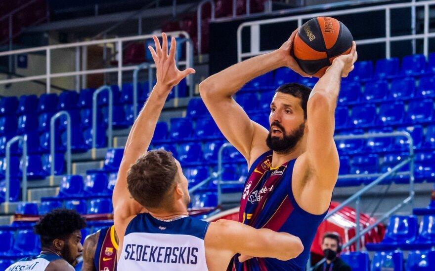"""Tadas Sedekerskis ir Nikola Mirotičius / FOTO: """"Barca Basket"""""""