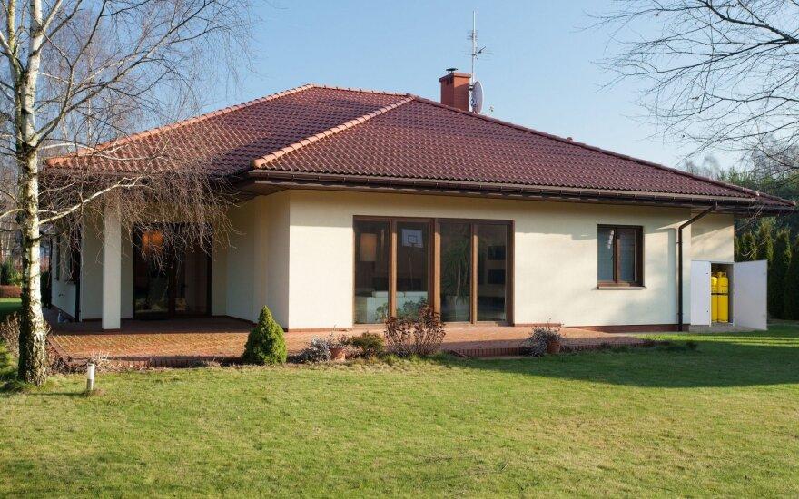 Namas su įrengta dujinio šildymo sistema