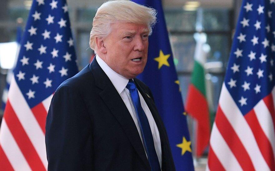 D. Trumpas vieši Briuselyje